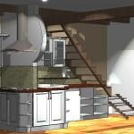 vizualizácie kuchynské linky.