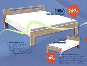 akcia posteľ Nela